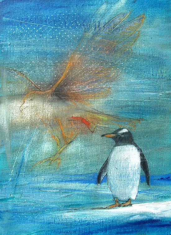 Die Vision eines Pinguins Leinwandbild