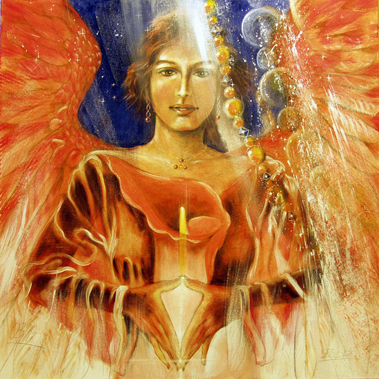 Erzengel Jophiel, Engelbilder, spirituelle Malerei, Leinwanddrucke, Poster, Wandbilder, Körper
