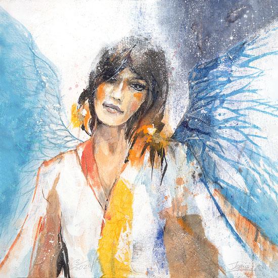 Engelbild, Engel der Hoffnung, gemalt, spirituelle Bilder, Leinwandbilder, Kunstdrucke, Poster