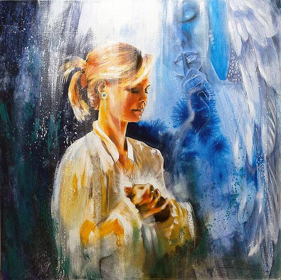 Engelbilder Herzenswege Jana Haas Leinwandbilder, Poster, spirituelle Kunstdrucke von Jopie Bopp