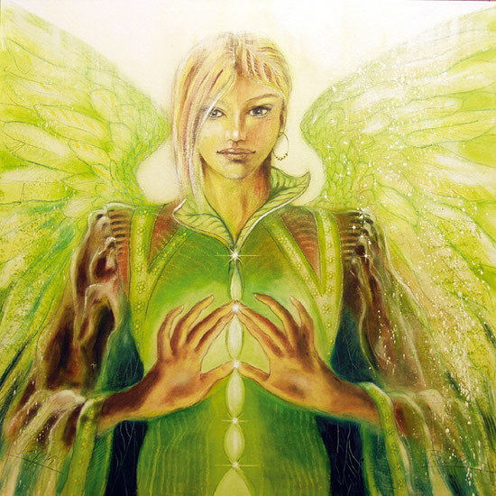 Erzengel Sandalphon, Engelbilder, spirituelle Malerei, Leinwandbilder, Poster, Wandbilder, Wachstum