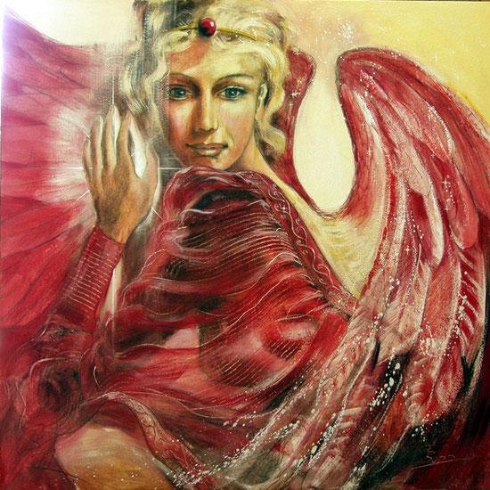 Erzengel Chamuel, Engelbilder, spirituelle Malerei, Leinwandbilder, Poster, Wandbilder, Selbstwert