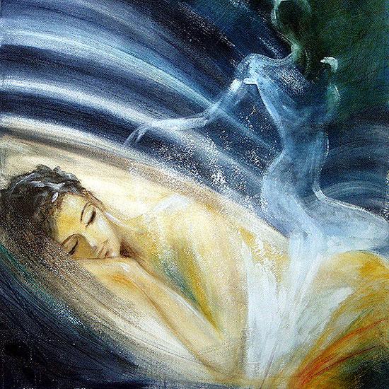 Tanz der Seele / Element Luft, Leinwandbild, Kunstdruck, Poster
