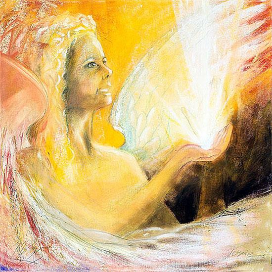 Engelbilder gemalt, Engel des Lichtes, spirituelle Leinwandbilder, Kunstdrucke, Poster,