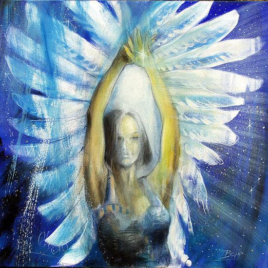 Spirituelle Wandbilder für große Räume, Engel des Kosmischen Tores, Leinwandbilder, Kunstdruck