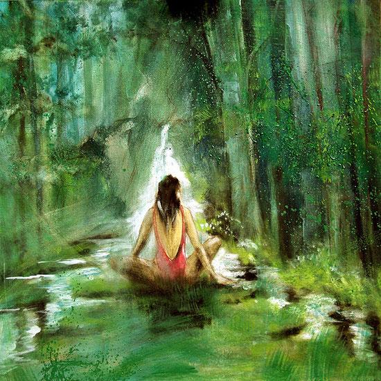 Die Quelle / Element Wasser, Leinwandbild, Kunstdruck, Poster