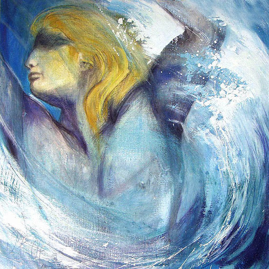 Poseidon / Element Wasser, Leinwandbild, Kunstdruck, Poster