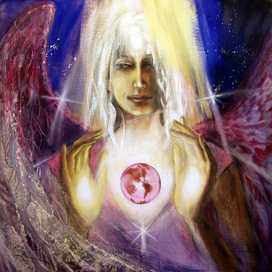 Erzengel Raphael, Engelbilder, spirituelle Malerei, Leinwandbilder, Poster, Wandbilder, Erkenntnis