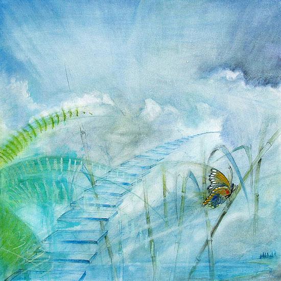 Die große Freiheit / Element Luft, Leinwandbild, Kunstdruck, Poster