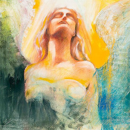 Engelbilder, Engel der Hingabe / Element Luft, spirituelle Leinwandbilder, Kunstdrucke, Poster