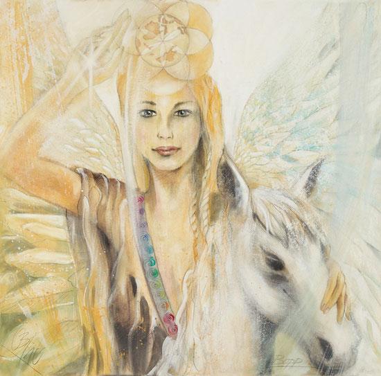 Engelbilder, Erzengel, weiblicher Christus, spirituelle Malerei, Leinwanddrucke, Poster, Wandbilder
