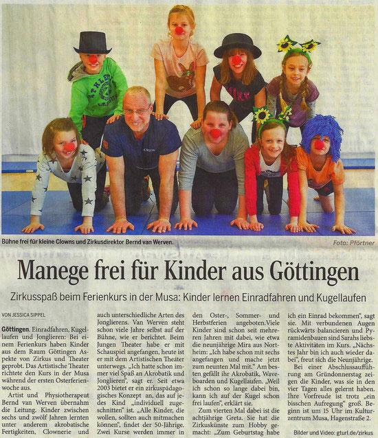 Manege frei / in: Göttinger Tageblatt 2016