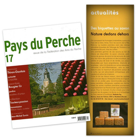 Savon Malva - Article magazine Pays du Perche Juin 2012