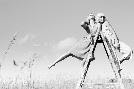 Haare & Make-up / Schülerin: Elena D. | Model: Helena, Charlotte | Agency: JAVA Model, People Management | Produktion: bloos Make-up & Hair Academy | Foto: Markus Thiel