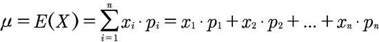 Formel für den Erwartungswert