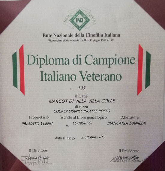 Margot Campionessa Italiana Veterana