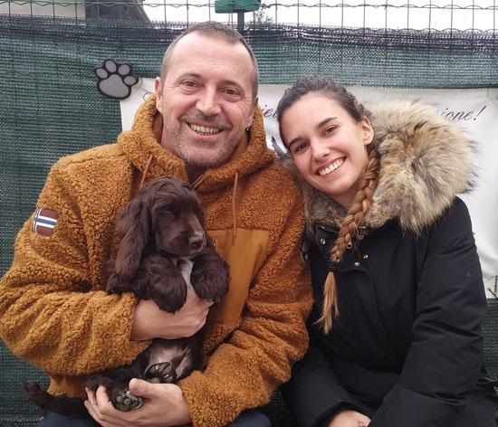 Mokaccino e la sua nuova famiglia.