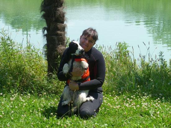 Samba ed io al lago dopo gli allenamenti