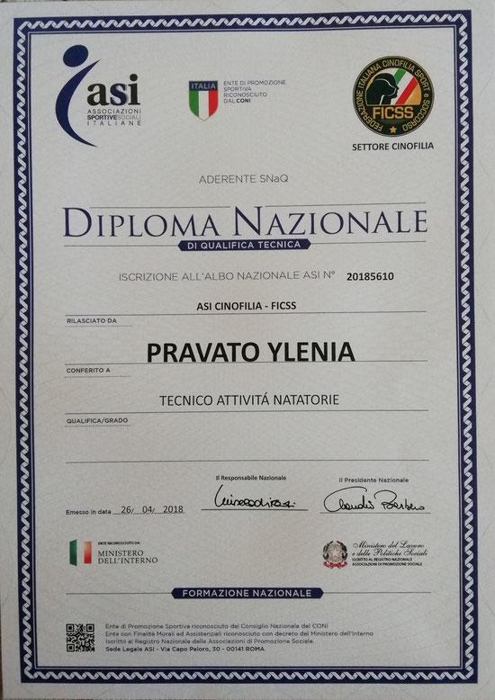 Diploma di Tecnico Attivita Natatorie col cane. 🌊💦🏊♀️🐾🐩