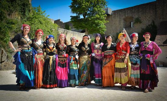 La troupe SAMARCANDE au Château du Hohlandsbourg, été 2017