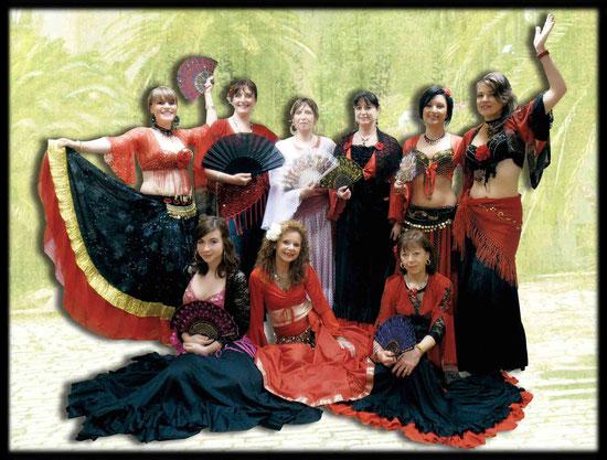 Des danseuses de tous niveaux pour une représentation de 4 danses de style flamenco oriental