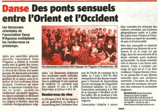 Dans le journal l'Alsace