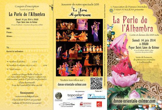 Recto du dépliant de notre spectacle 2014 par Fanny M., danseuse - Reproduction interdite