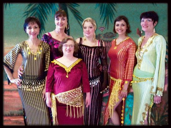 Quelques danseuses du groupe des débutantes qui ont assuré le spectacle.
