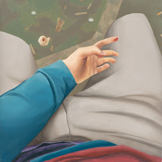Blick hinab, 2019, Öl auf Leinwand, 65x 65 cm