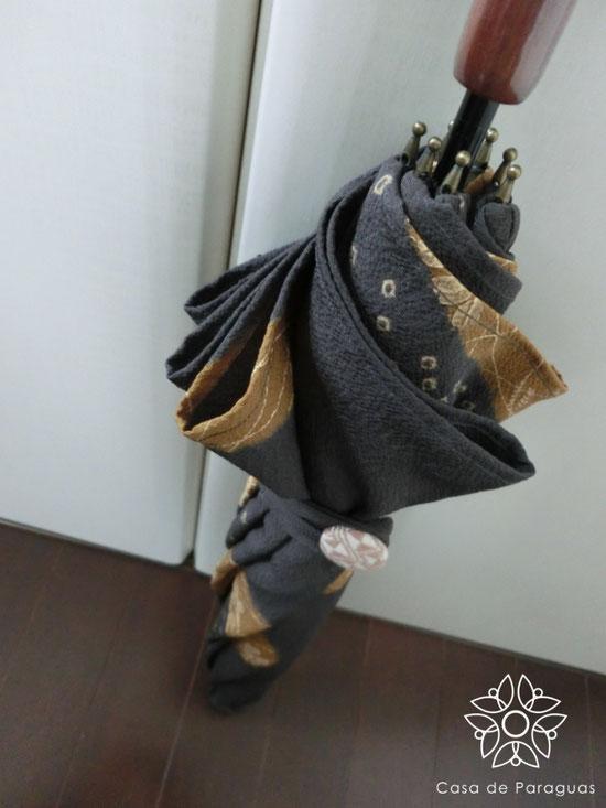 (※こちらの日傘は、ラワン木の持ち手、絹素材のロング日傘(日傘専用品)です)