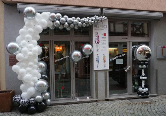 Ballon Luftballon Girlande Deko Dekoration Neueröffnung Firma Geschäft Event Geschäftseröffnung Girlande Ständer