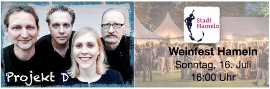 Projekt D Auftritt Hameln Weinfest