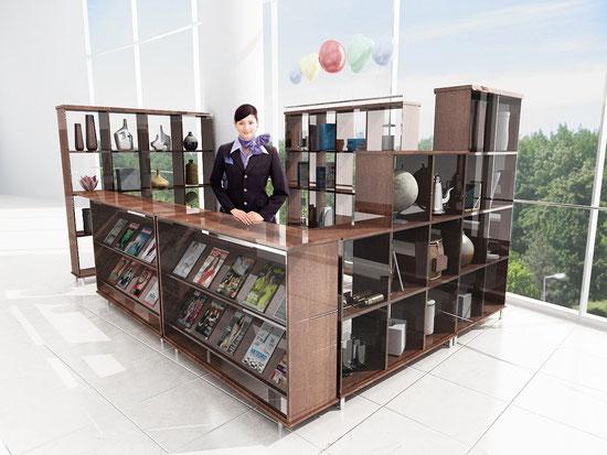 mueble exhibidor de revistas