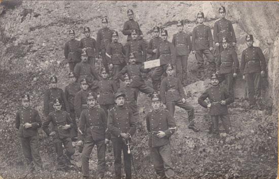 Aktivdienst 1917, Bataillon 48 aus dem Kanton Zug (Fotosammlung Hans Iten, Grund, Obergägeri)