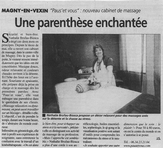 Article paru dans la Gazette du Val d'Oise du mercredi 17 octobre 2012
