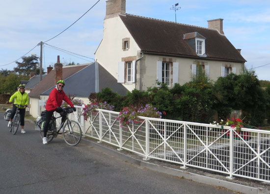 Cycling in Grignon in front of L'Echappee Belle B&B