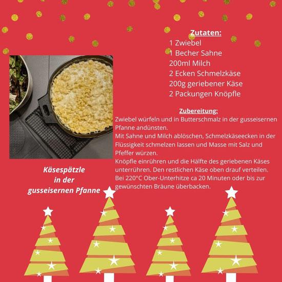 Käsespätzle aus der gusseisernen Pfanne von Pampered Chef®