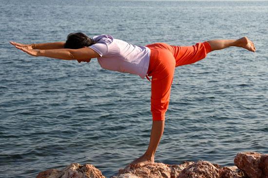 Yoga-Übung Waage