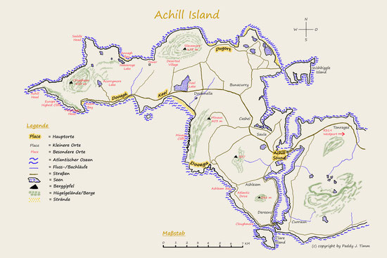 Map of Achill Island