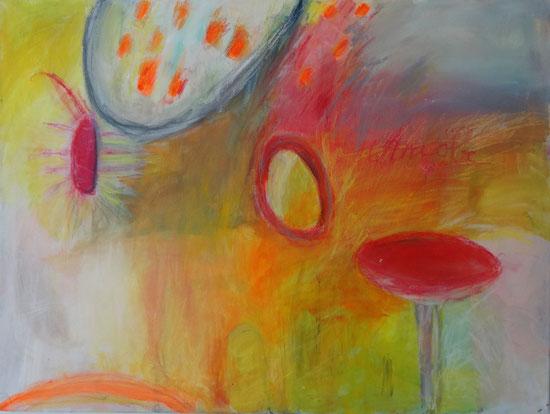 """Amöbe"", 2017, Acryl auf Leinwand, 60x80 cm"