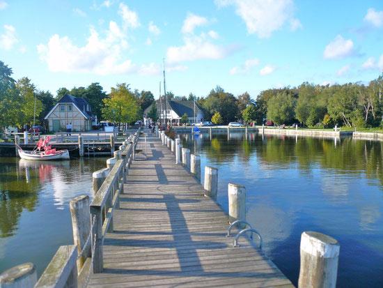 Althäger Hafen in Ahrenshoop, Boddenseite