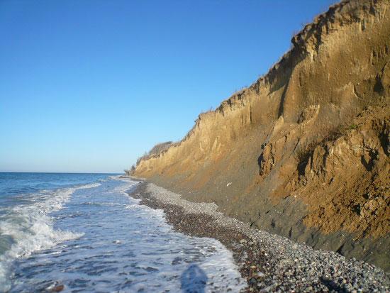zwischen Ostsee und Steilküste war es eng