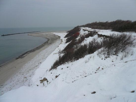 Strandspaziergang im Schnee