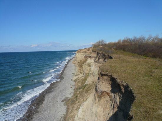 Steilküste weg Ahrenshoop - Wustrow
