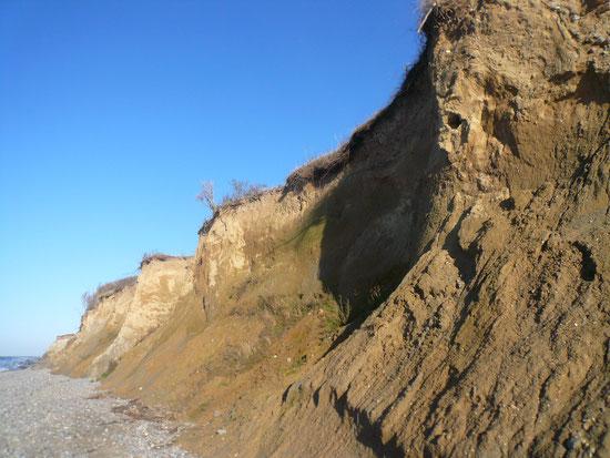 Steilküste von unten