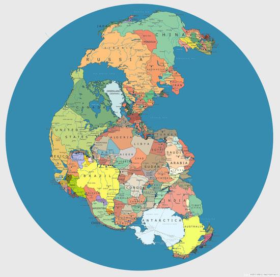 El Pangea político mundial...