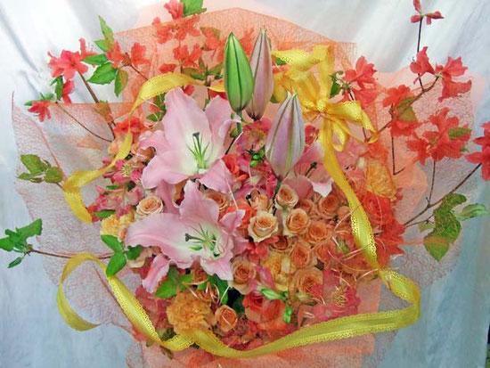 母の日&誕生祝フラワーアレンジ
