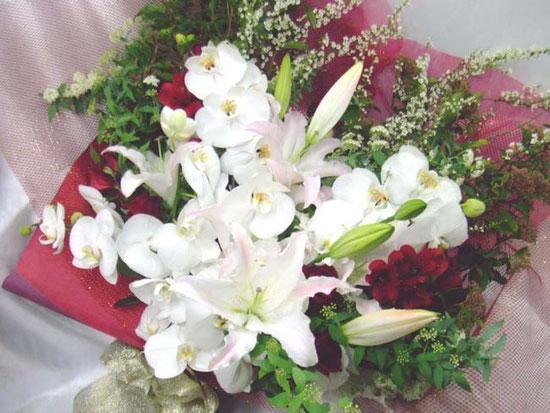 退職祝花束