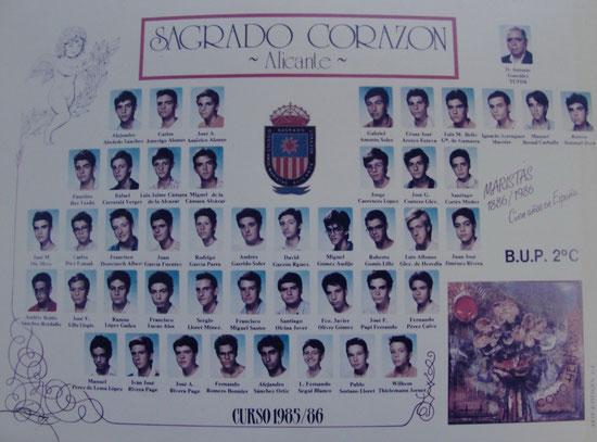 CURSO 2ºC BUP (1985-1986)