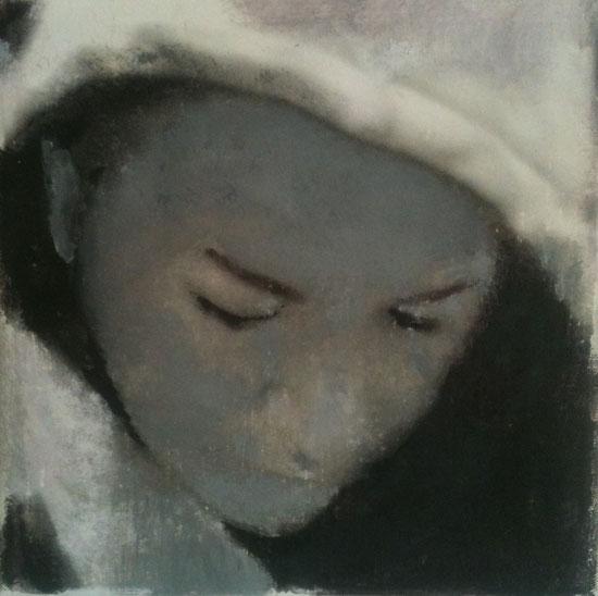 """""""Suzanna""""  acryl  op  canvas     ( 20x20cm )"""